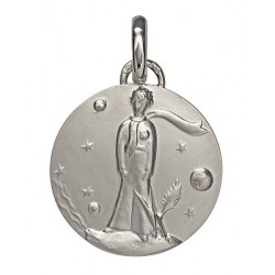 Silver baptism medal The Little Prince - 18mm