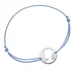 Portrait Little Prince preforated - Blue cord bracelet