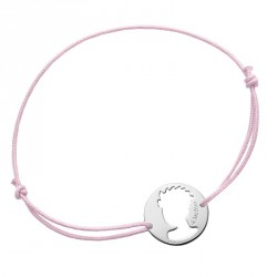Portrait Little Prince preforated - Pink cord bracelet