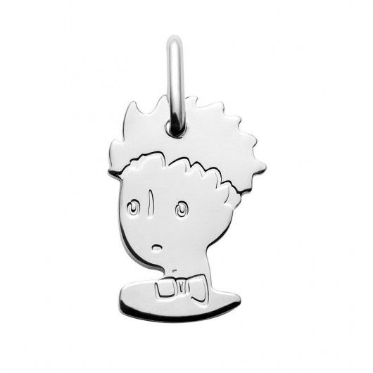 Silver baptism medal The Little Prince portrait - 13mm