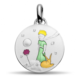 Colorized Pendant The Little Prince on his planet