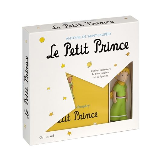 Box The Little Prince: Book with Aquarelles + figurine