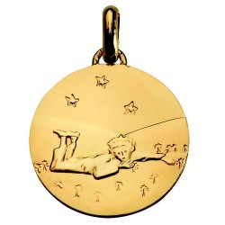 Medal Gold: The Little Prince lying - 18mm