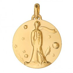 Medal Gold The Little Prince & fox - 18mm