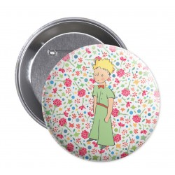 The Little Prince badge - Flowers