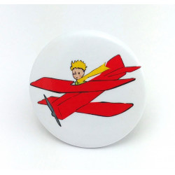 Badge Le Petit Prince et l'avion