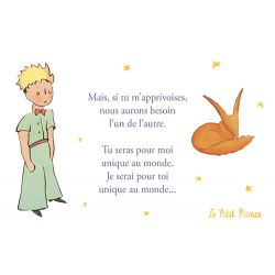 Golden vertical card The Little Prince 10x15 cm - Nous aurons besoin l'un de l'autre