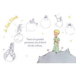 Golden horizontal card The Little Prince 10x15 cm - Toutes les grandes personnes