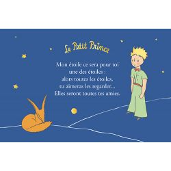 Golden horizontal card The Little Prince 10x15 cm - My star