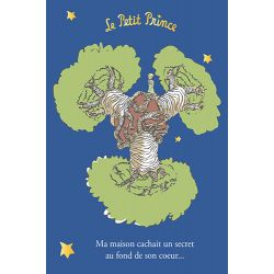 Golden vertical card The Little Prince 10x15 cm - Ma maison