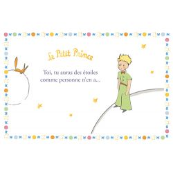 Golden horizontal card The Little Prince 10x15 cm - Comme personne