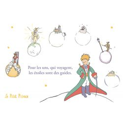 Golden horizontal card The Little Prince 10 x 15 cm - The travel