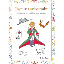 Card The Little Prince 15x21 cm - Joyeux anniversaire