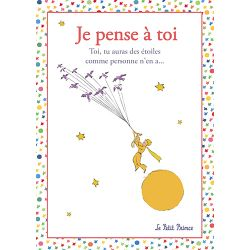 Card The Little Prince 15x21 cm - Je pense à toi