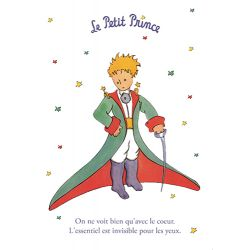 Card The Little Prince 15x21 cm - On ne voit bien qu'avec le cœur