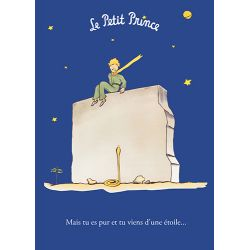 Card The Little Prince 15x21 cm - Mais tu es pur et tu viens d'une étoile