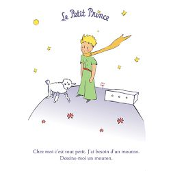 Card The Little Prince 15x21 cm - Dessine-moi un mouton