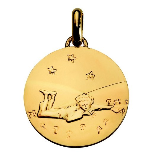 Medal Gold: The Little Prince lying - 14mm